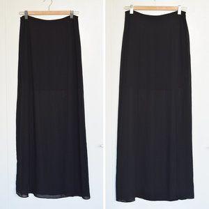 H&M Skirts - 3/$30 - H&M Black Chiffon Maxi Skirt